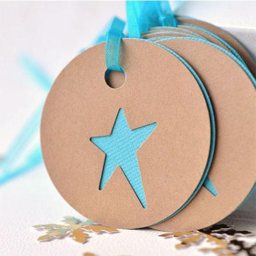 Mẫu tag treo bế hình ngôi sao