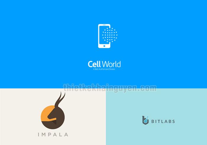 Thiết kế logo nổi tiếng với phong cách thiết kế phẳng