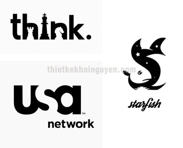 Negative Space - thiết kế logo không gian âm - phong cách thiết kế logo nổi tiếng