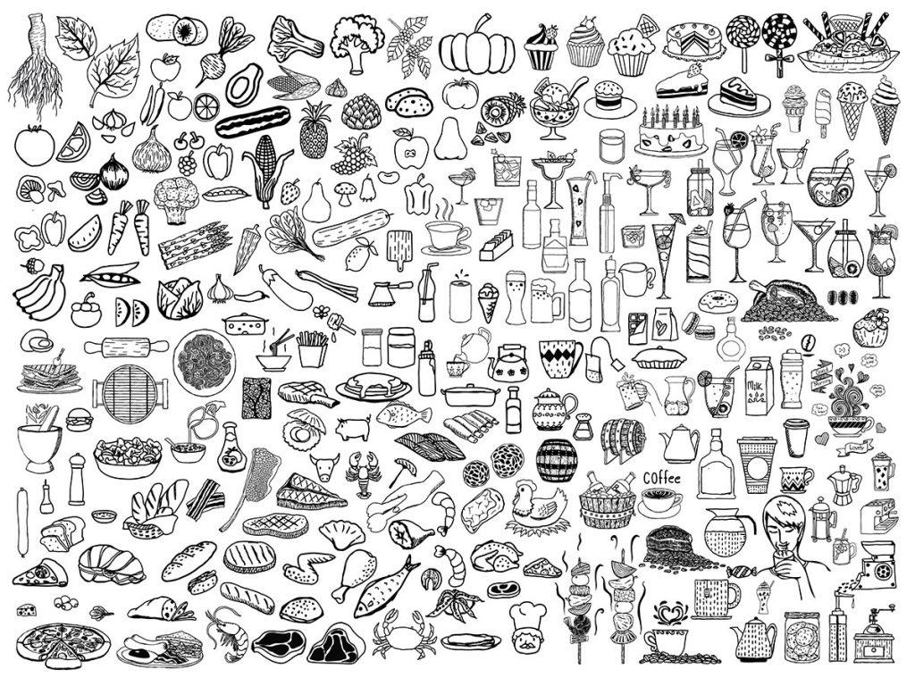 doodle cho mot thiet ke menu