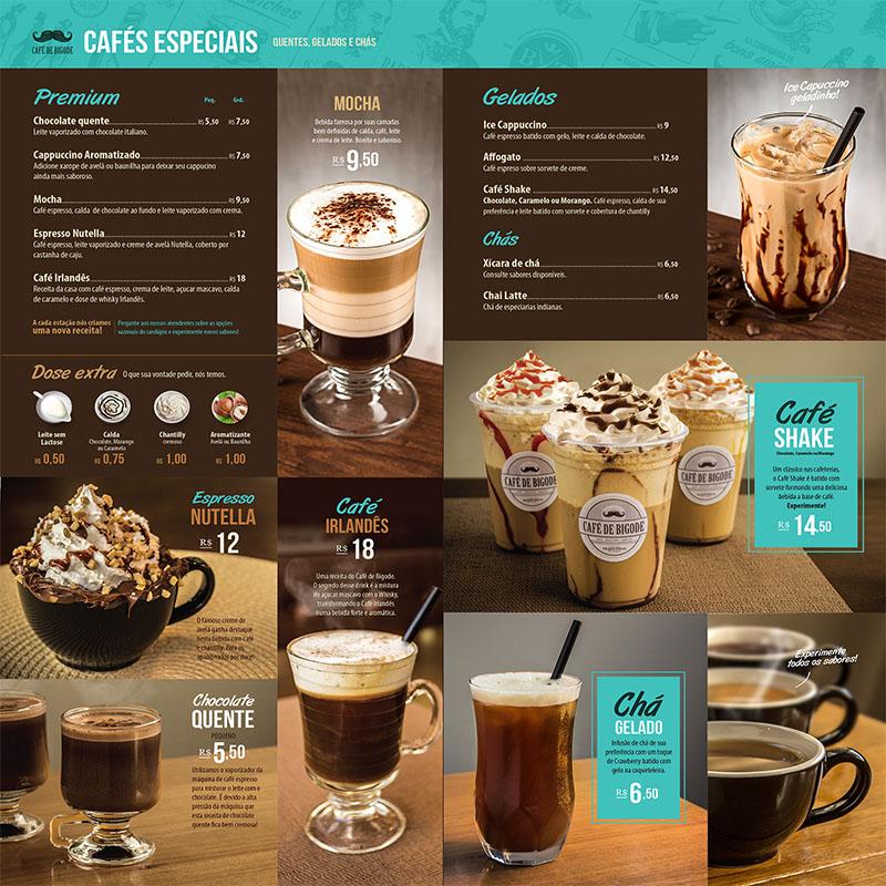 Mẫu thiết kế menu quán cà phê tuyệt đẹp