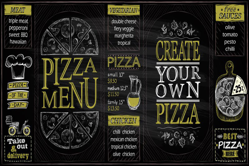 menu cua hang pizzza