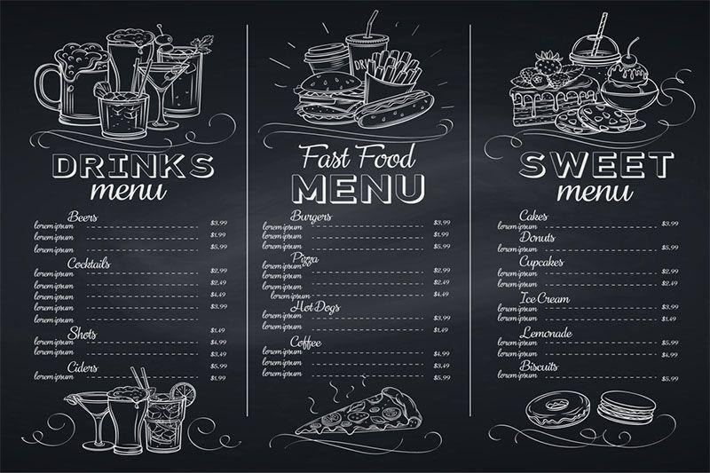 Mẫu thiết kế menu