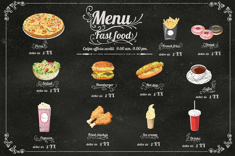 Thiết kế menu