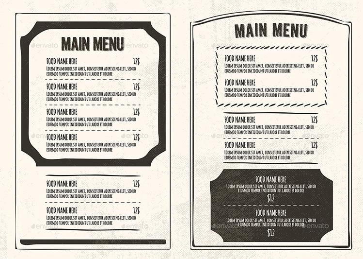 Phong cách thiết kế menu cổ điển