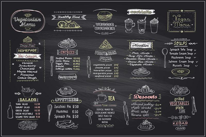 Thiết kế menu cho nhà hàng chay