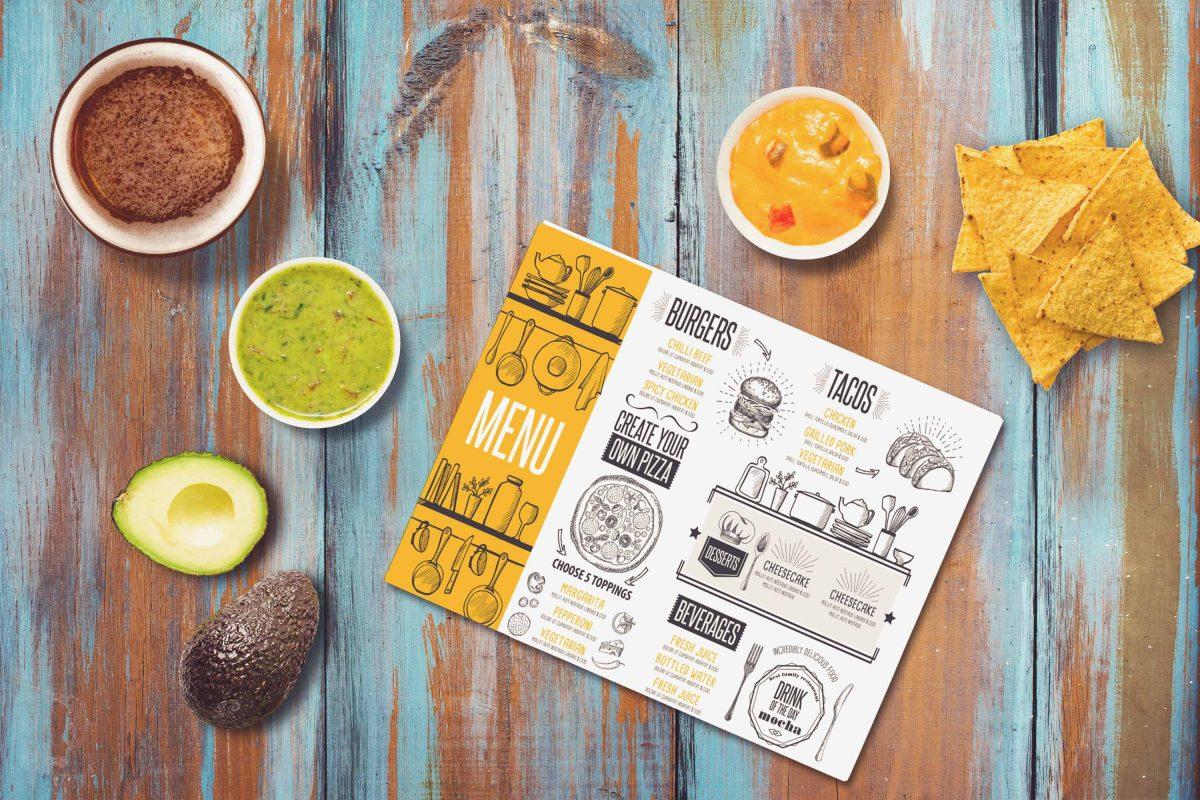 Bảng thiết kế menu nhà hàng đặc biệt