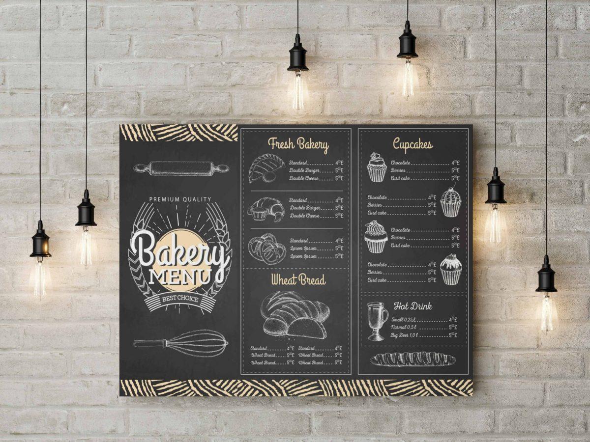 Làm menu dán tường cho quán cafe