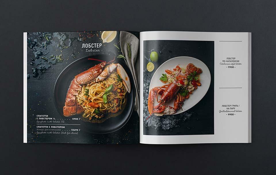 Thiết kế menu khách sạn với phong cách đặc sắc