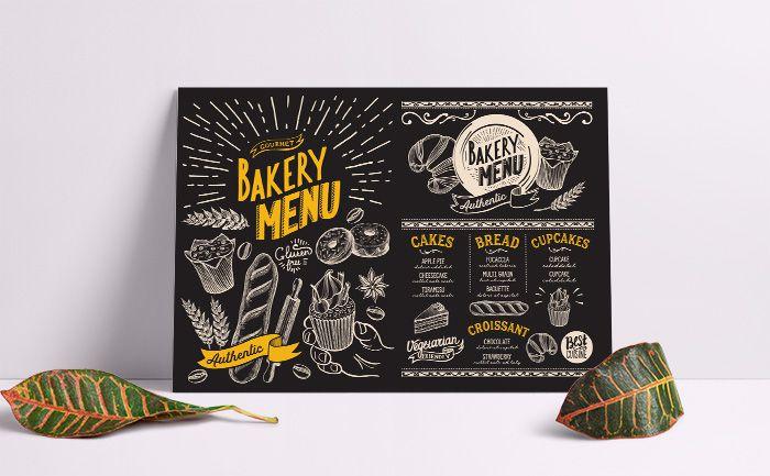 Menu tiệm bánh siêu đẹp với phong cách bảng đen