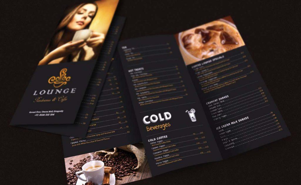 thiet ke menu cafe