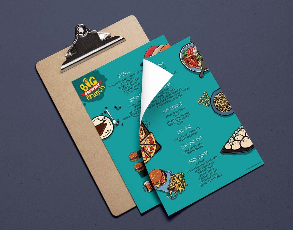 thiet ke menu quan do an nhanh