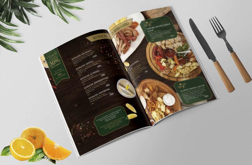 In menu nhà hàng đẹp với phong cách thiết kế sang trọng