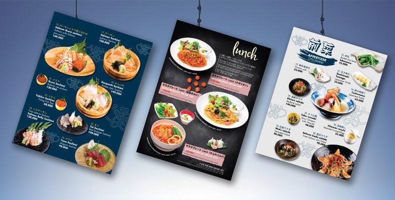 Cách thiết kế menu đẹp cho nhà hàng