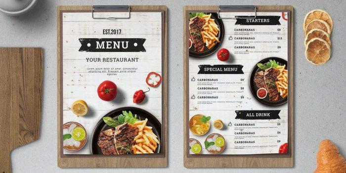 Giới thiệu cách thiết kế menu đơn giản và đẹp nhất