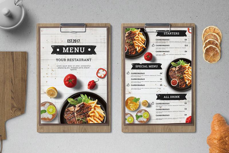 Cách thiết kế thực đơn nhà hàng thu hút khách