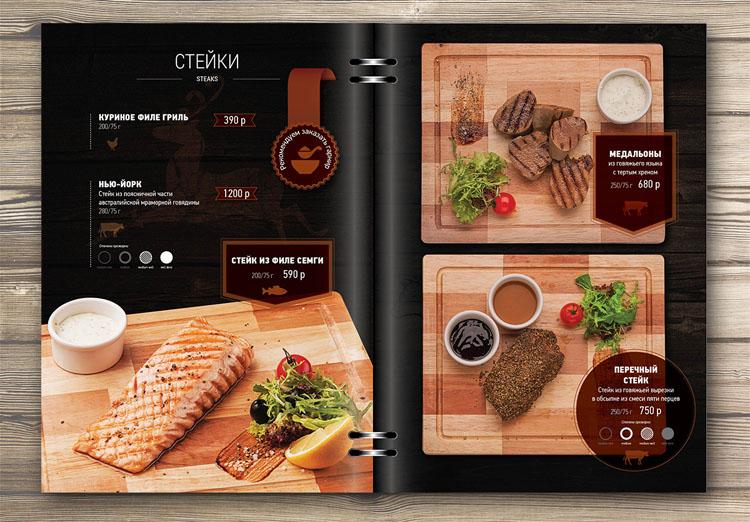 Bố cục thiết kế menu cho nhà hàng rất quan trọng