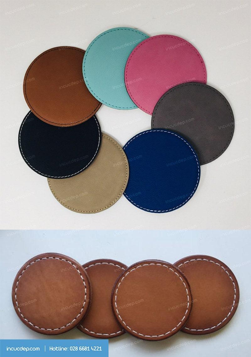 Lót ly da bán sẵn có rất nhiều màu để lựa chọn