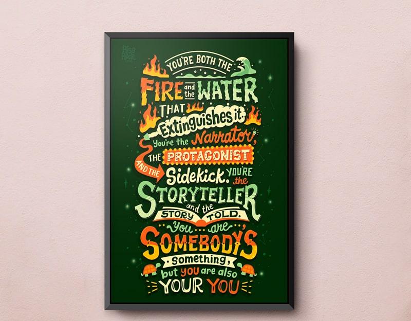 Mẫu thiết kế poster bằng kỹ thuật Typography