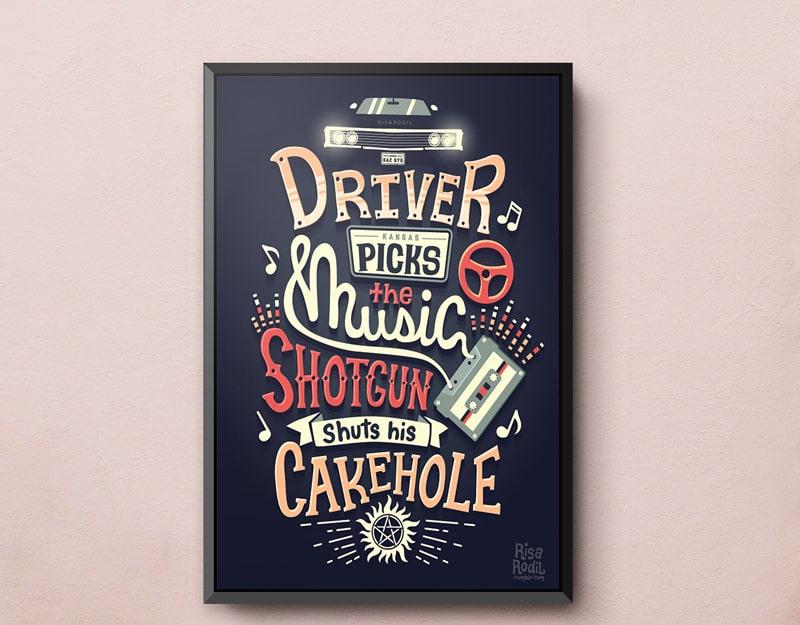 Thiết kế poster điêu luyện - biến chữ viết thành hình ảnh sống động