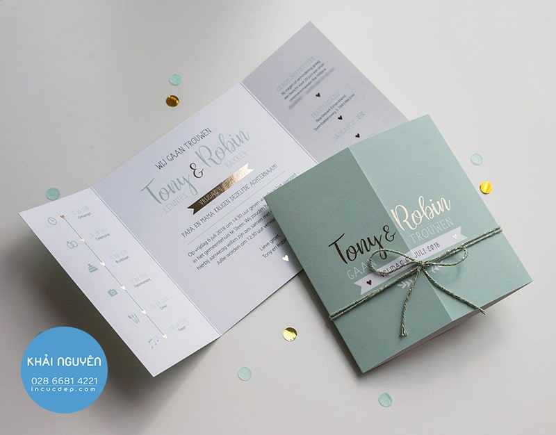 10 kiểu gấp thiệp mời độc đáo và sáng tạo tuyệt vời