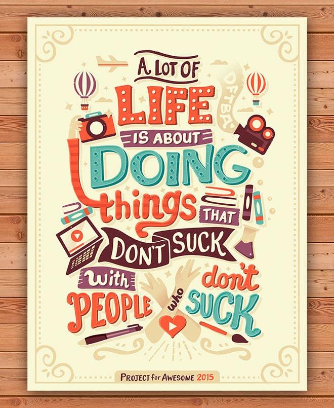 Life Doing Things - poster cổ động thú vị