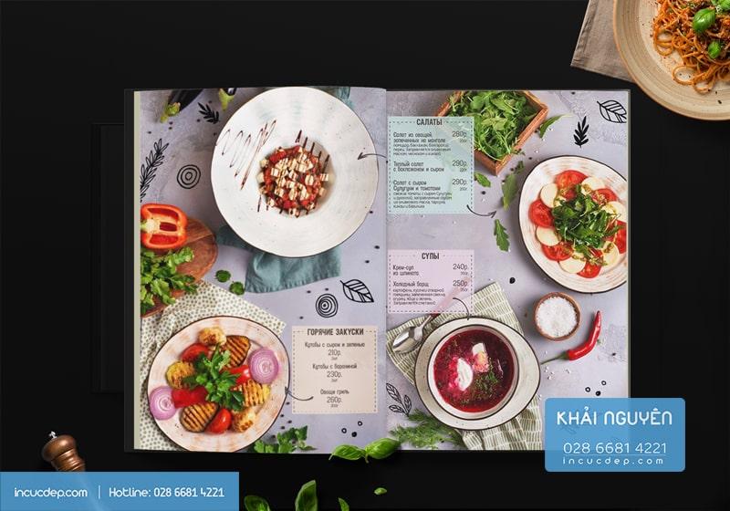 Mẫu thiết kế thực đơn nhà hàng đẹp trên khắp thế giới