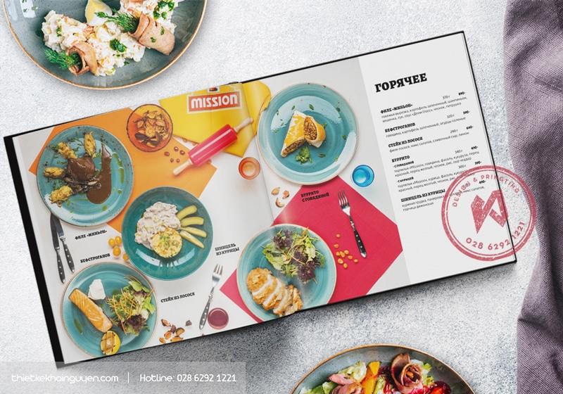 Thiết kế menu nhà hàng đẹp dùng in menu nhựa