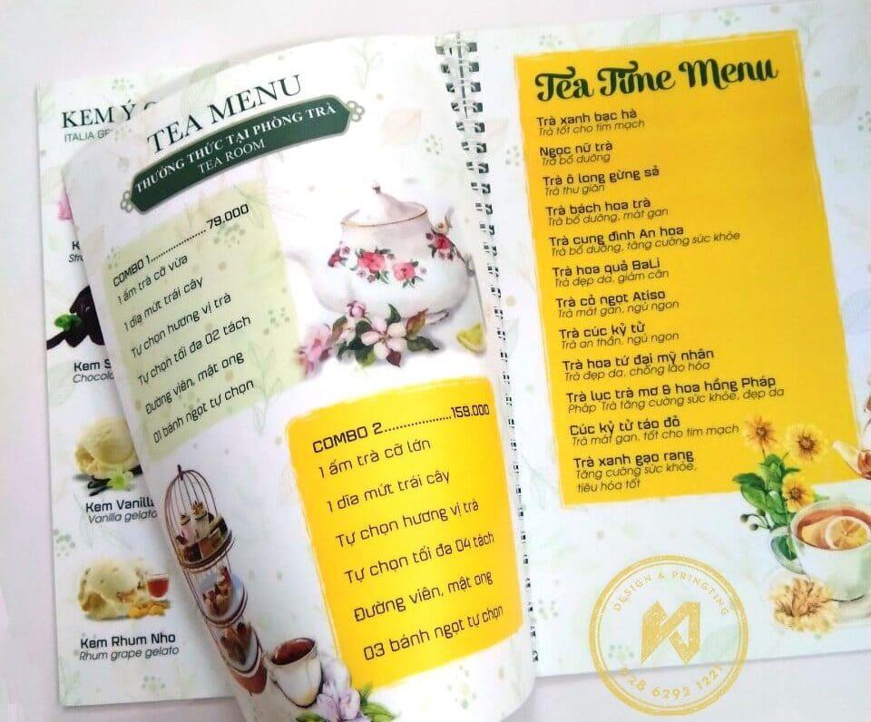 In menu nhựa cho quán cafe luôn là sự lựa chọn tốt nhất