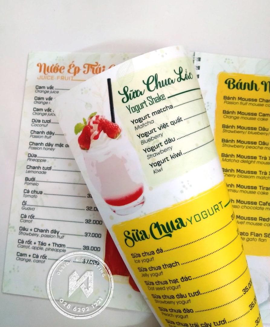 In menu nhựa mỏng xé không rách cao cấp tại TPHCM