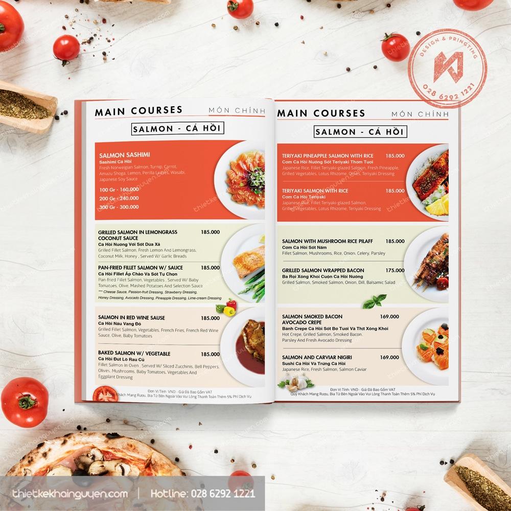 Kỹ thuật thiết kế menu cho nhà hàng luôn cần sự sáng tạo