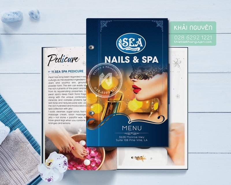 Menu Nails & Spa - thiết kế menu nails đẹp