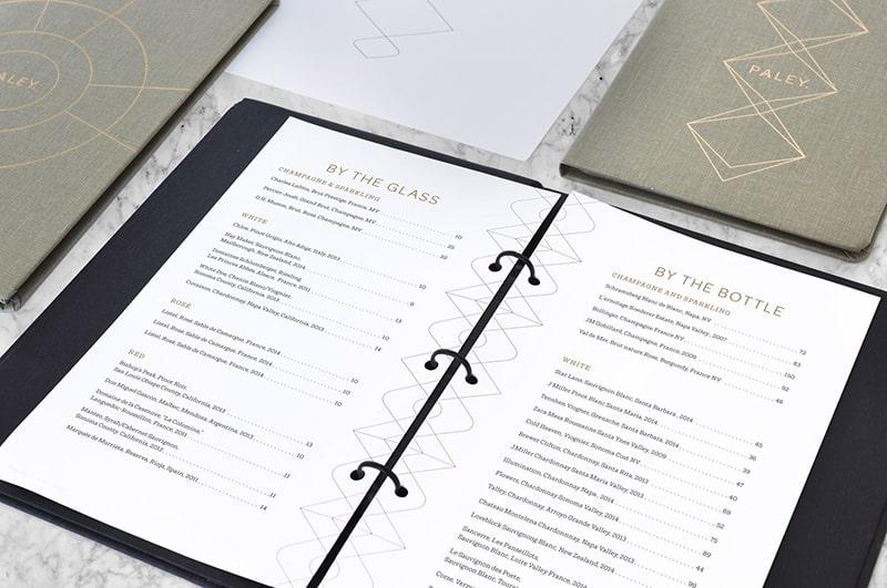 Bảng thiết kế & in ấn menu nhà hàng Âu dạng basic