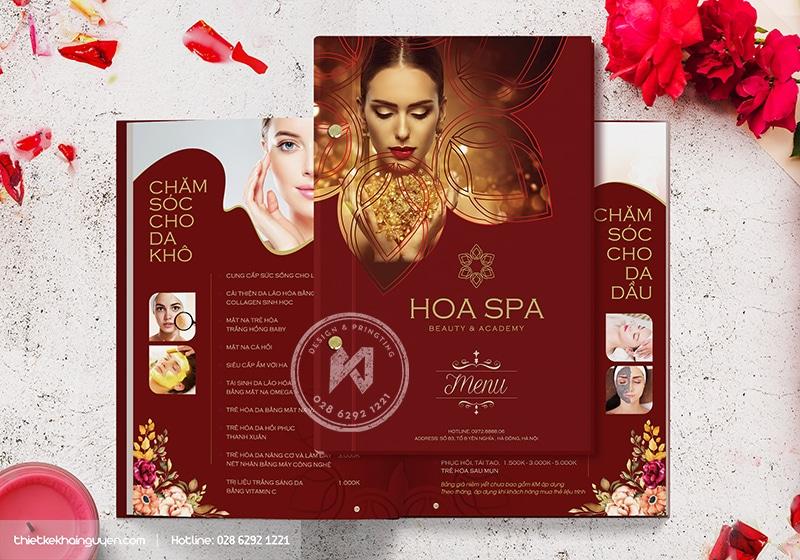 HOA SPA  Design - mẫu menu cho SPA BEAUTY