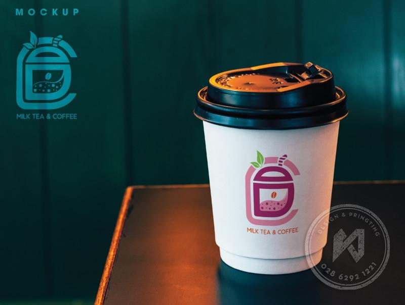 Thiết kế logo cho quán trà sữa - milk tea