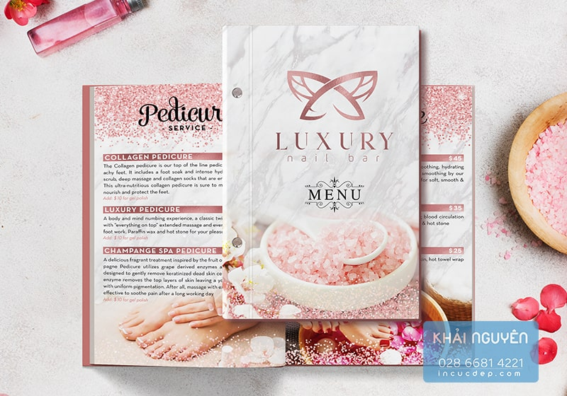In menu Spa - LUXURY Nail SPA