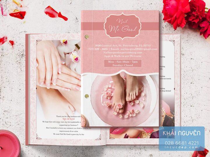In menu Spa & Nail Spa đẹp, chuyên nghiệp