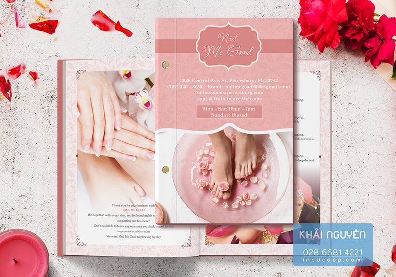 In menu Spa beauty, Nail spa sang trọng với hàng trăm mẫu đẹp