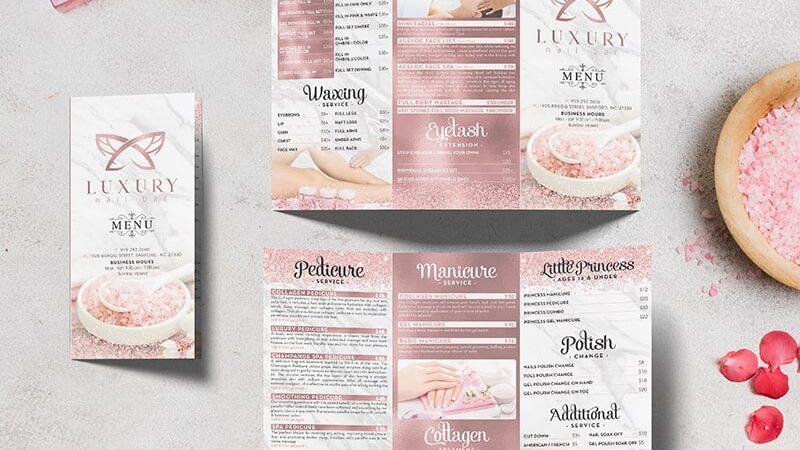 Các bước làm brochure - brochure spa đẹp