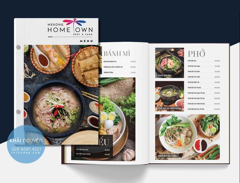 HOME OWN - Menu nhà hàng Việt