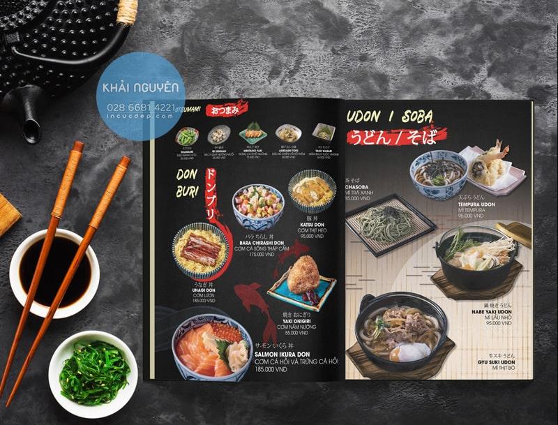 Janpan Menu - Takashi sushi menu