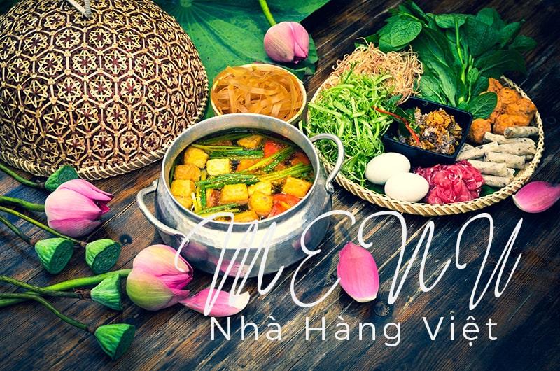 Thiết kế & in menu nhà hàng Việt sang trọng, đẳng cấp .
