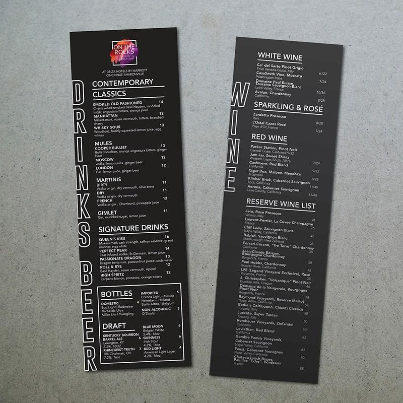 Drink menu - Biến tấu kích thước giúp thực đơn thú vị hơn