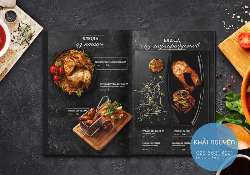 Thiết kế & in menu nhà hàng BBQ chuẩn đẹp hiệu quả.