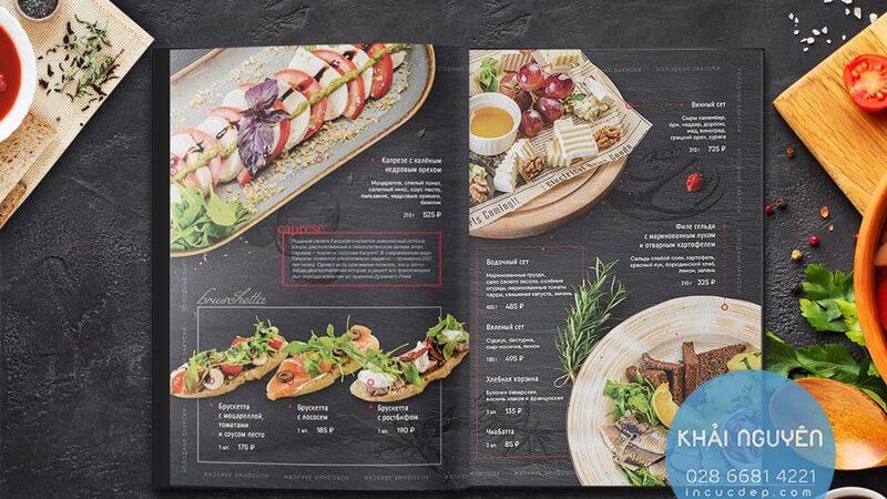 Phần Khai Vị trong menu nhà hàng BBQ
