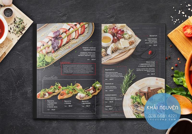 20 thiết kế menu nhà hàng đẹp lạ không giống ai