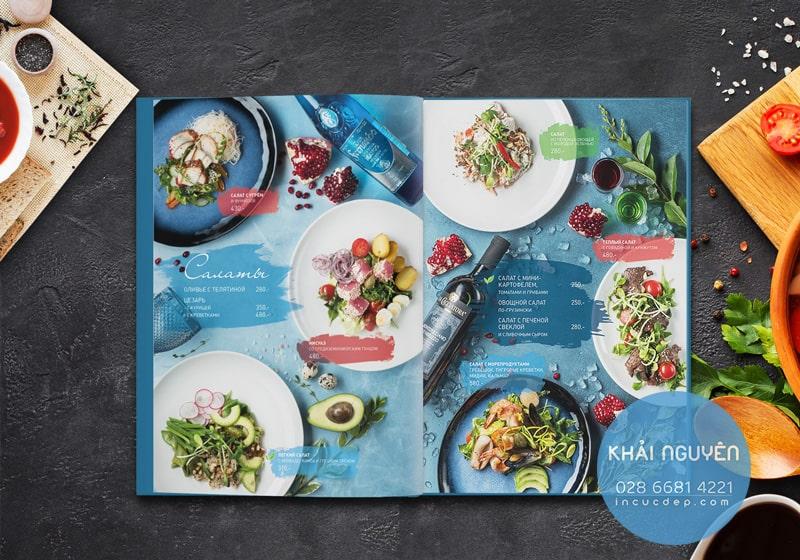 Những món ăn nhẹ luôn cần thiết kế thực đơn nhà hàng nướng
