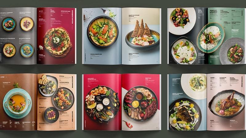 Mẫu thiết kế menu nhà hàng tổng hợp