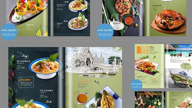 Bộ menu nhà hàng Trung Hoa đặc sắc