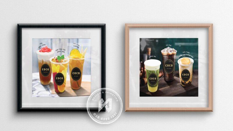 Mẫu thiết kế poster quán cafe đẹp